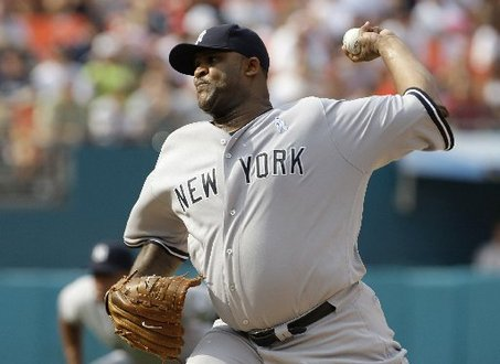 CC Sabathia Pitches for the New York Yankees