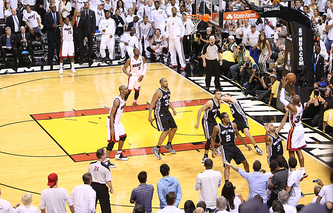 Ray Allen Nails Clutch Three to Force NBA Finals Game 6 Overtime