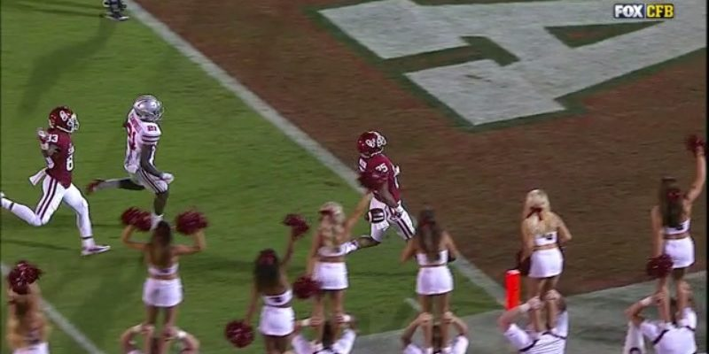 Oklahoma Dropped Tocuhdown Missed
